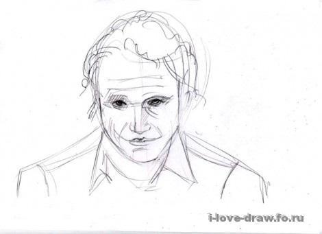 Поэтапный рисунок джокера